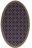 rug #110805 | oval beige borders rug
