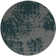 rug #1108086 | round blue-green traditional rug