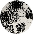 rug #1108098 | round black damask rug