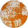 rug #1108162 | round orange natural rug
