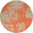 rug #1108166 | round beige damask rug