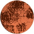 rug #1108170 | round red-orange damask rug