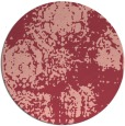 rug #1108182 | round pink traditional rug