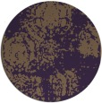 rug #1108198 | round purple faded rug