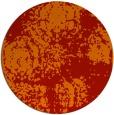 rug #1108210 | round orange faded rug