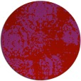 rug #1108218 | round red traditional rug