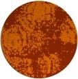 rug #1108222 | round red-orange traditional rug
