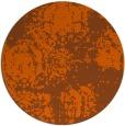 rug #1108230 | round red-orange traditional rug