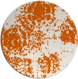 rug #1108234 | round red-orange damask rug