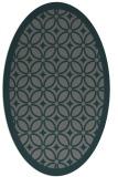 rug #110825 | oval green geometry rug