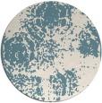 rug #1108262   round blue-green natural rug