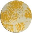 rug #1108270 | round yellow damask rug
