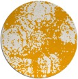 rug #1108306 | round light-orange damask rug