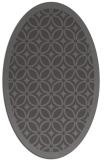 rug #110845 | oval brown circles rug