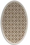 rug #110849   oval mid-brown borders rug