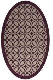 rug #110853 | oval pink circles rug