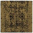 rug #1108718 | square mid-brown damask rug