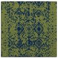 rug #1108734 | square blue damask rug