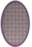 rug #110877 | oval purple borders rug