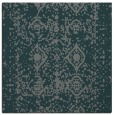 rug #1108822 | square blue-green damask rug