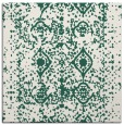 rug #1108826 | square green traditional rug