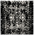 rug #1108834 | square black damask rug