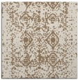 rug #1108846 | square mid-brown damask rug