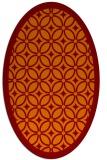 rug #110885 | oval orange geometry rug