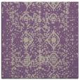 rug #1108874   square purple damask rug