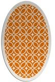 rug #110889 | oval orange circles rug