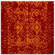 rug #1108894 | square red-orange damask rug