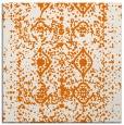 rug #1108898 | square orange damask rug