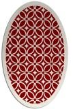 rug #110891 | oval geometry rug