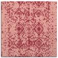 rug #1108918 | square pink damask rug