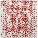 rug #1108950 | square red traditional rug