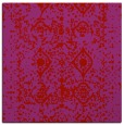 rug #1108954 | square red traditional rug