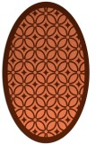 rug #110897   oval orange circles rug
