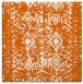 rug #1108970 | square red-orange faded rug