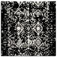 rug #1108978 | square black damask rug