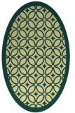 rug #110901 | oval yellow geometry rug