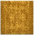rug #1109018 | square light-orange damask rug