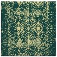 rug #1109022 | square yellow damask rug