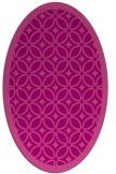 rug #110905   oval pink rug