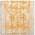rug #1109054 | square white damask rug