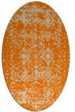 rug #1109058 | oval beige damask rug
