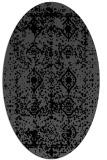 rug #1109066 | oval black traditional rug