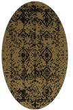 rug #1109086 | oval brown damask rug