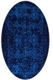rug #1109090 | oval blue faded rug