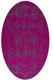 rug #1109096 | oval faded rug