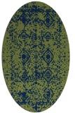 rug #1109102 | oval blue faded rug